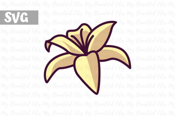 Print on Demand: Flower Lilies Graphic Icons By MyBeautifulFiles