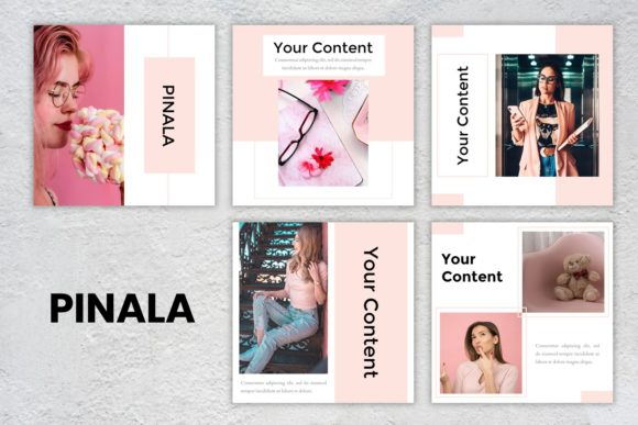 Instagram Feed - Pinala Graphic Presentation Templates By listulabs