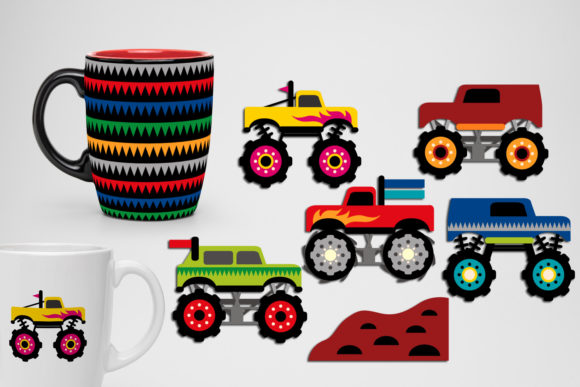 Monster Trucks Bundle Graphic Preview