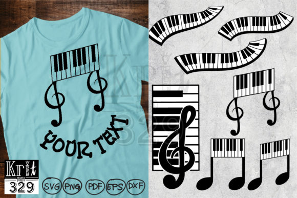 Piano Keyboard Graphic Objects By Krit-Studio329