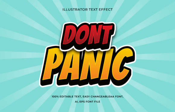Text Effect Editable - Dont Panic Graphic Add-ons By aalfndi