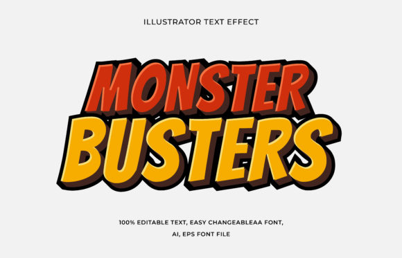 Text Effect Editable - Monster Busters Graphic Add-ons By aalfndi