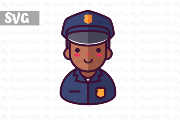 Print on Demand: Police Profession Graphic Illustrations By MyBeautifulFiles