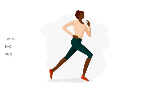 woman runner vector illuustration graphic by ngabeivector creative fabrica woman runner vector illuustration