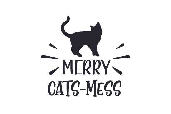 Merry Cats-mess Cats Craft Cut File By Creative Fabrica Crafts