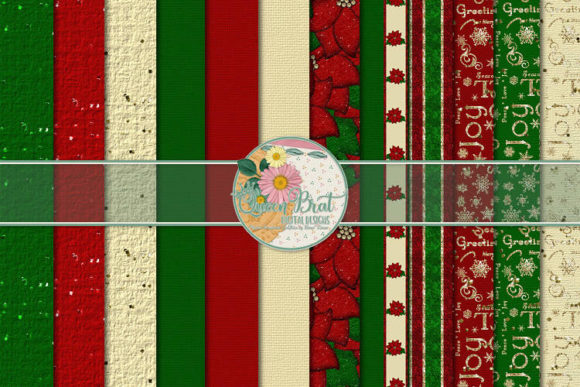 Print on Demand: A Lil Christmas Papers Graphic Backgrounds By QueenBrat Digital Designs