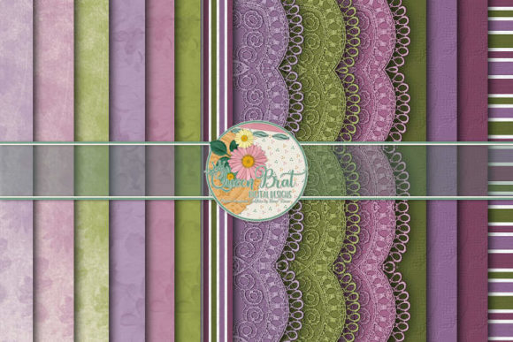 Print on Demand: A Lil Love Paper Pack Graphic Backgrounds By QueenBrat Digital Designs