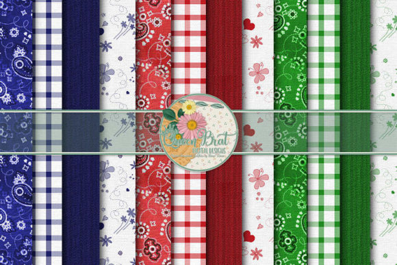 Print on Demand: A Little Bit Country Papers Graphic Backgrounds By QueenBrat Digital Designs