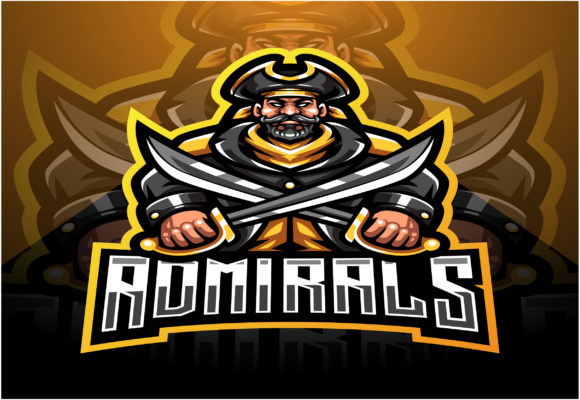 Admirals Esport Mascot Logo Design Graphic Illustrations By visink.art