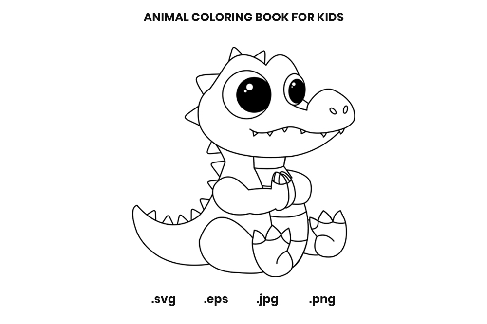 - Alligator Coloring Book Page For Kids (Graphic) By Doridodesign · Creative  Fabrica