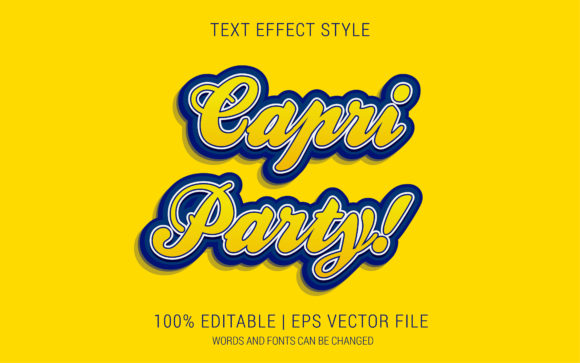 Capri PartyText Effect Style Graphic Layer Styles By Neyansterdam17