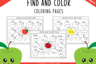 Find and Color Coloring Pages Graphic PreK By Happy Kiddos