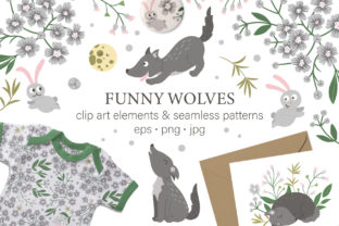 Funny Wolves Graphic Illustrations By lexiclaus