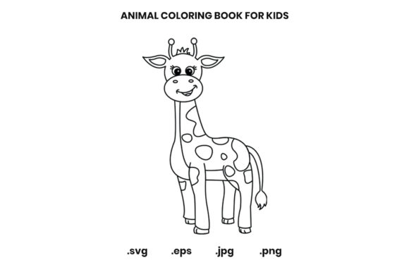 Print on Demand: Giraffe Coloring Book Page for Kids Graphic Coloring Pages & Books Kids By doridodesign