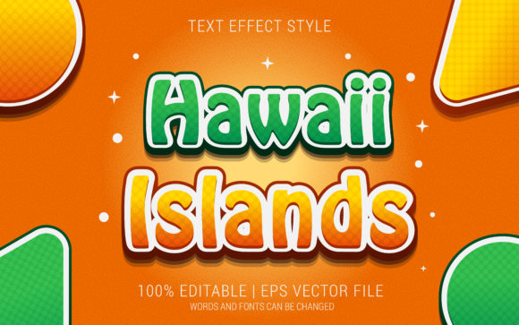 HAWAII ISLANDS TEXT EFFECTS STYLE Graphic Layer Styles By Neyansterdam17