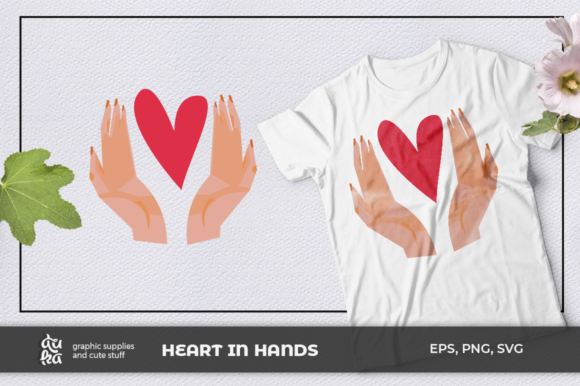 Print on Demand: Heart in Hands SVG Graphic Illustrations By duka