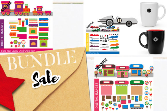 Print on Demand: Make Your Own Bundle Graphic Illustrations By Revidevi