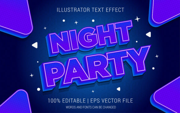 Night PartyText Effect Style Graphic Layer Styles By Neyansterdam17