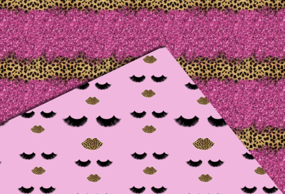 Print on Demand: Pink & Cheetah Seamless Patterns Graphic Patterns By TheGGShop - Image 4