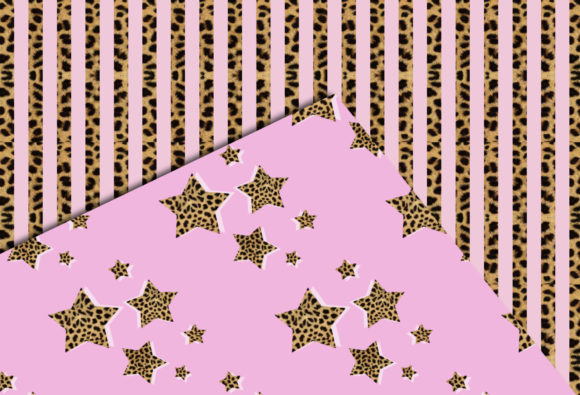 Print on Demand: Pink & Cheetah Seamless Patterns Graphic Patterns By TheGGShop - Image 5