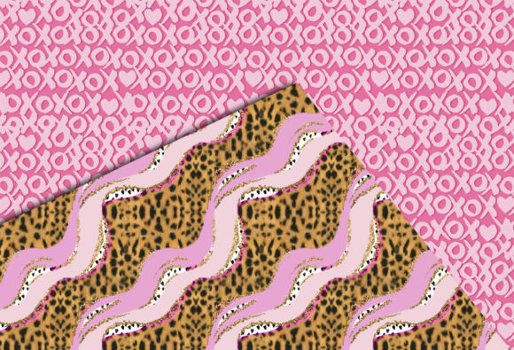 Print on Demand: Pink & Cheetah Seamless Patterns Graphic Patterns By TheGGShop - Image 6