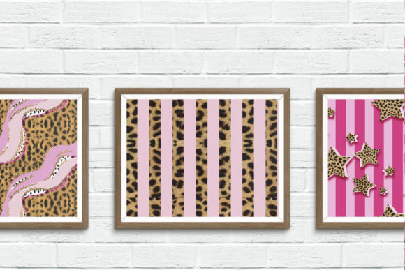 Print on Demand: Pink & Cheetah Seamless Patterns Graphic Patterns By TheGGShop - Image 9