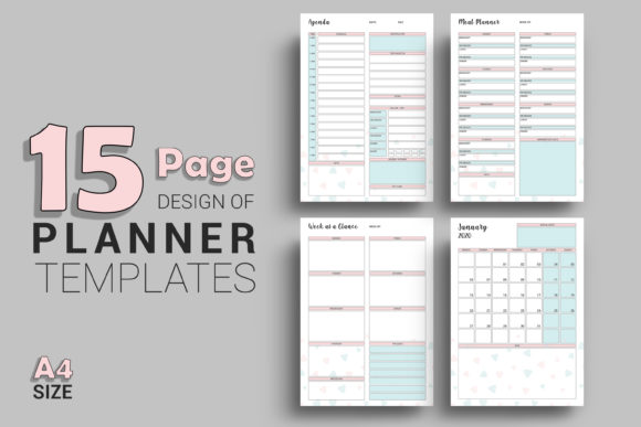 Print on Demand: Printable Planner Template Graphic Print Templates By sistecbd