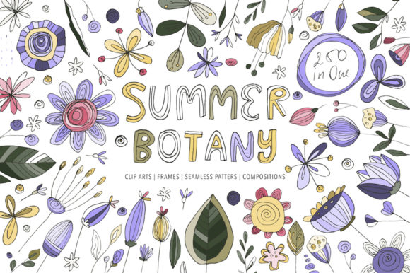 Print on Demand: Summer Botany Floral Graphic Pack  Gráfico Ilustraciones Por Red Ink