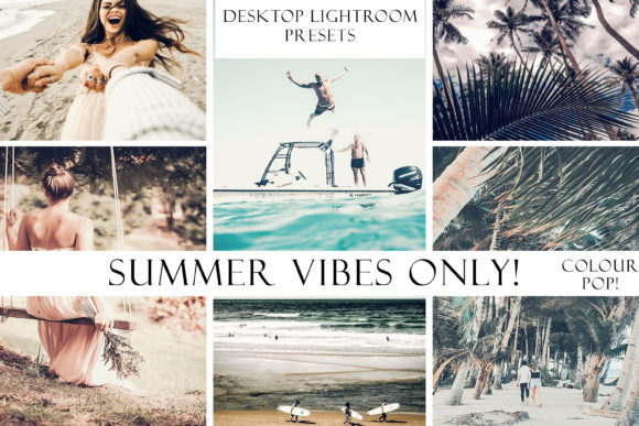 Summer Vibes Only! Color Pop Presets Graphic Actions & Presets By liquid amethyst art