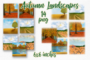 Print on Demand: Autumn Backdrop Landscape Graphic Illustrations By LeCoqDesign
