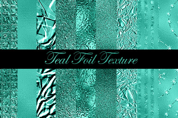 Teal Foil Printable Background Papers Graphic Backgrounds By sugamiart