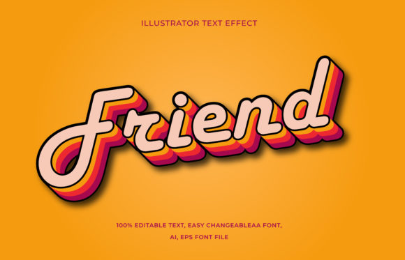 Text Effect Editable - Friend Graphic Add-ons By aalfndi