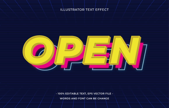 Text Effect Editable - Open Graphic Add-ons By aalfndi