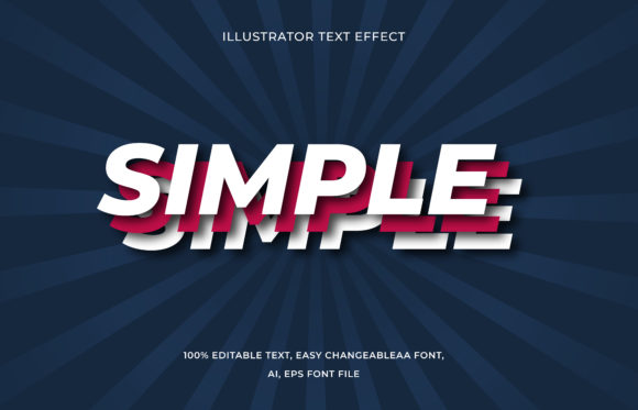 Text Effect Editable - Simple Graphic Add-ons By aalfndi