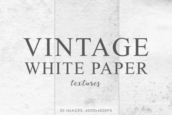 Print on Demand: White Vintage Paper Textures 1 Graphic Textures By ArtistMef