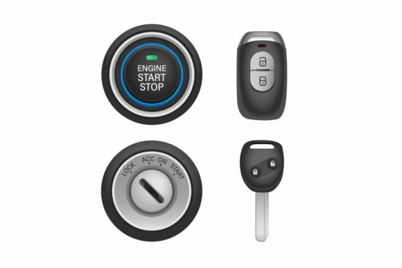 Print on Demand: Keyless and Keyhole Car with Remote Key Graphic Illustrations By aryo.hadi