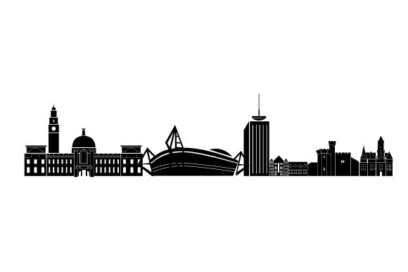 Cardiff Skyline UK Designs Craft Cut File By Creative Fabrica Crafts