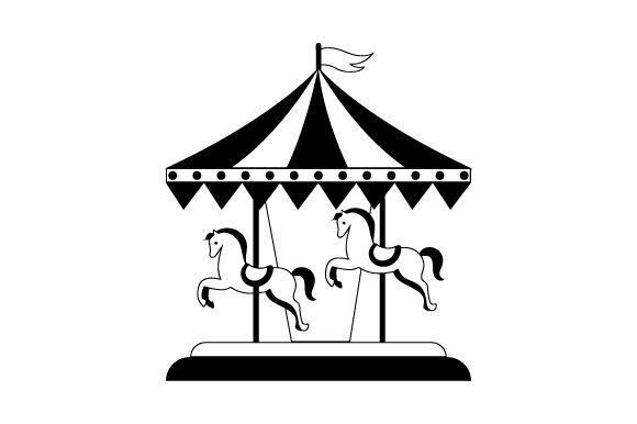 Merry-go-round Kids Craft Cut File By Creative Fabrica Crafts - Image 2