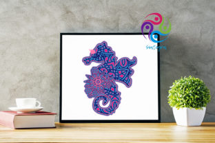 Print on Demand: 3D Layered Sea Horse Cut File Graphic 3D SVG By Sintegra 3
