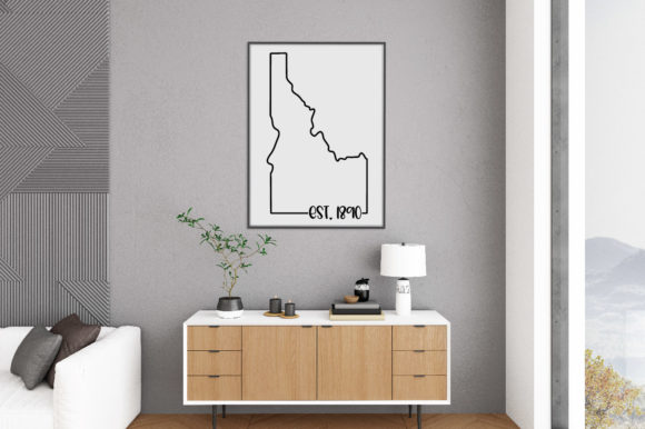 Print on Demand: 50 States Bundle - Date Established Graphic Crafts By oldmarketdesigns - Image 12
