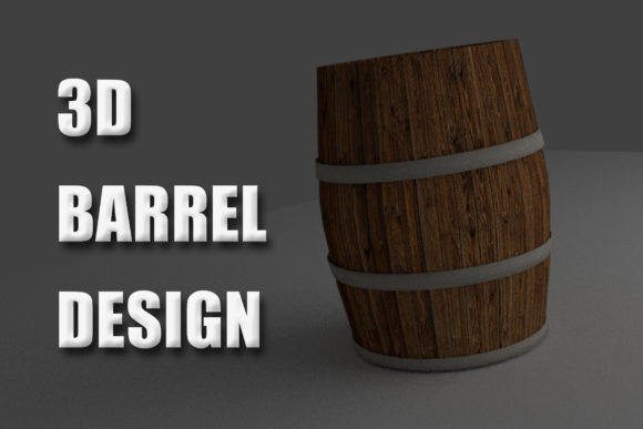 Print on Demand: A 3d Barrel Graphic 3D SVG By denestudios