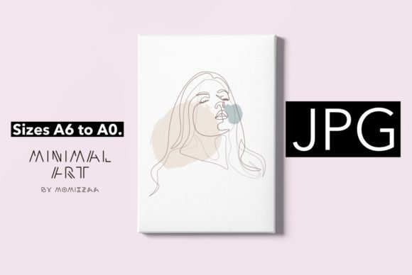 Print on Demand: Abstract Face One Line Art Print | Woman Graphic Illustrations By Momixzaa