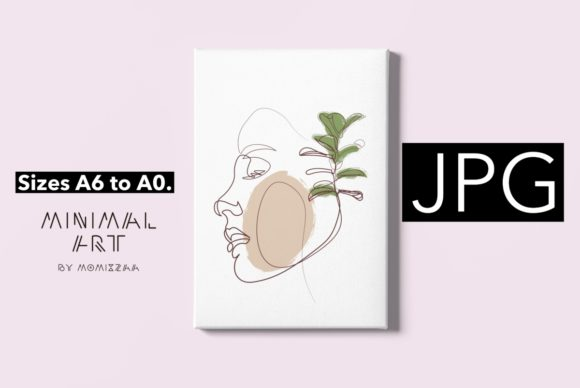 Print on Demand: Abstract Face One Line Art Print   Woman Graphic Illustrations By Momixzaa
