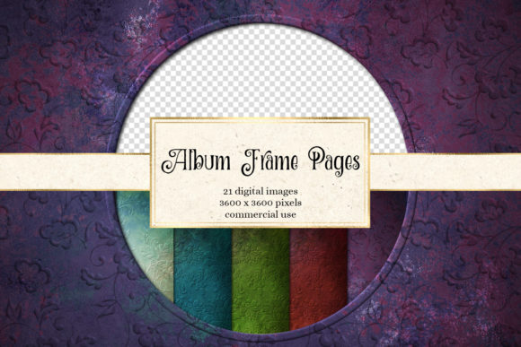 Print on Demand: Album Frame Pages Gráfico Texturas Por Digital Curio