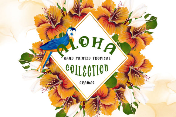 Print on Demand: Aloha Hand Painted Tropical Frames Graphic Illustrations By Andreea Eremia Design