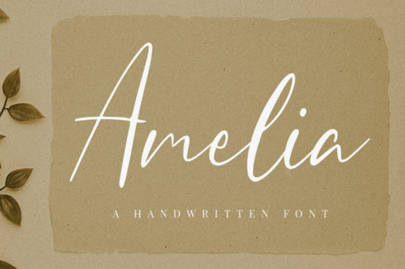 Print on Demand: Amelia Script & Handwritten Font By FatmaStudio