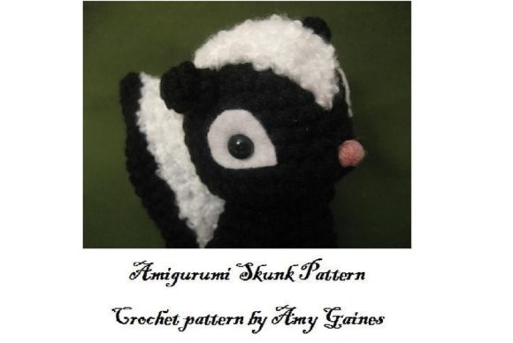 Amigurumi Crochet Skunk Pattern Graphic Crochet Patterns By Amy Gaines Amigurumi Patterns