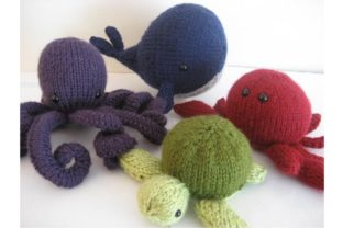 Amigurumi Knit Sea Creatures Pattern Set Graphic Knitting Patterns By Amy Gaines Amigurumi Patterns