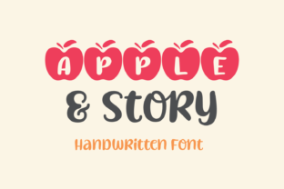 Print on Demand: Apple & Story Script & Handwritten Font By Jasm (7NTypes)