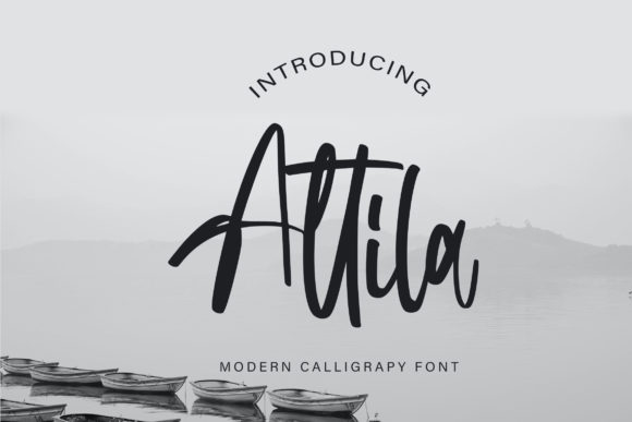 Print on Demand: Attila Script & Handwritten Font By Vunira